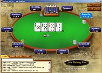 Table de poker sur Poker Stars