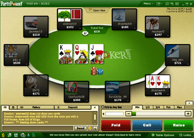 Party Poker Browser