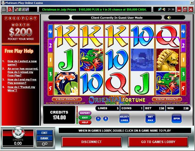 platinum play casino online