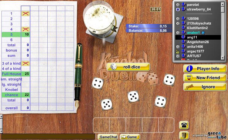 WГјrfelspiel Kniffel Online Spielen
